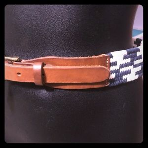 NWT J Crew wide braided leather belt size S/M